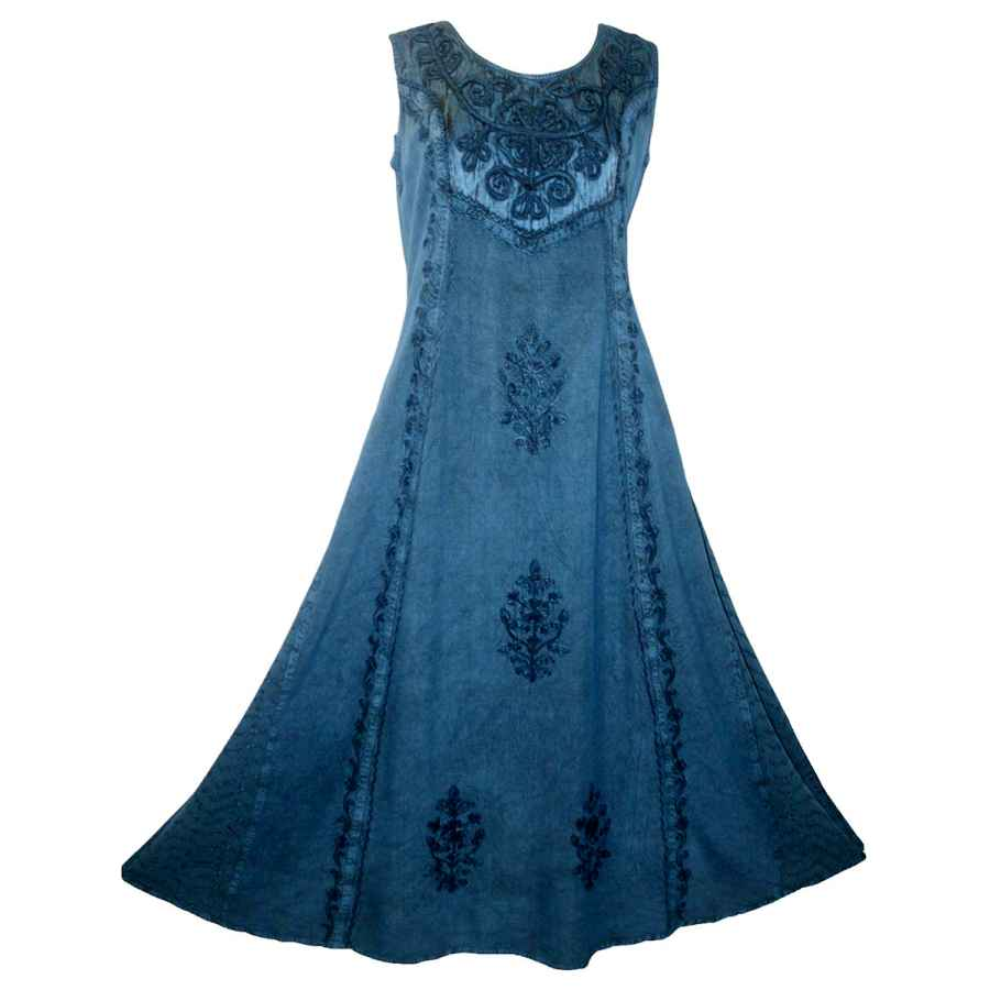 Womens Casual Dresses Agan Traders 1004 Dr Gothic Vintage Sleeveless Embroidered Casual Chic Twirl Sun Dress Gown