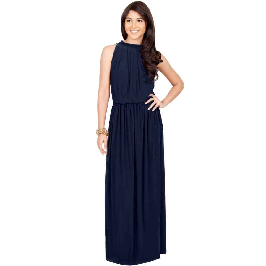 Womens Casual Dresses Koh Koh Sexy Sleeveless Summer Formal Flowy Casual Gown