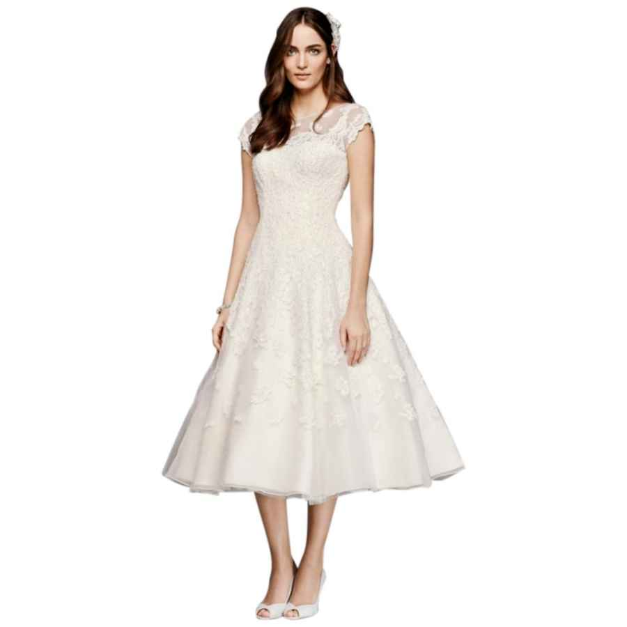 Wedding Dresses Oleg Cassini Cap Sleeve Illusion Wedding Dress Style