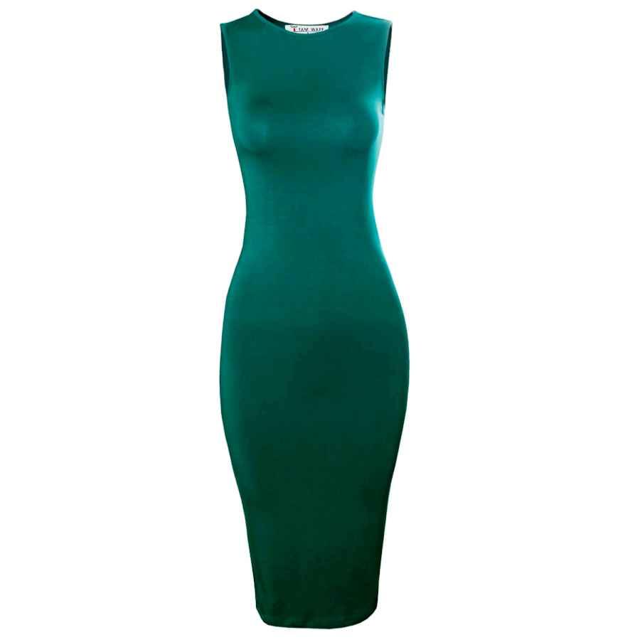 Party Dresses Tam Ware Women's Classic Slim Fit Sleeveless Midi