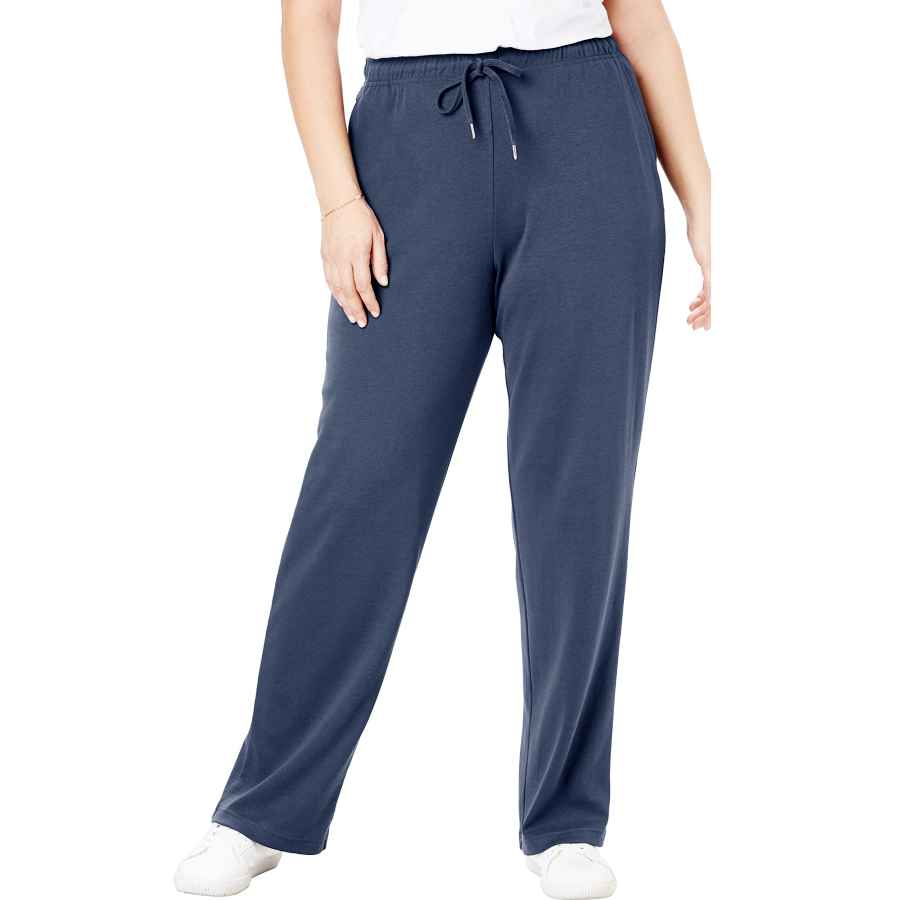 Pants Casual Woman Within Women's Plus Size Tall Sport Knit