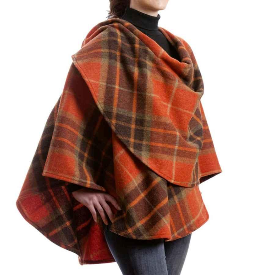 Biddy Murphy Irish Wool Cape 100% Lambswool Made In Ireland