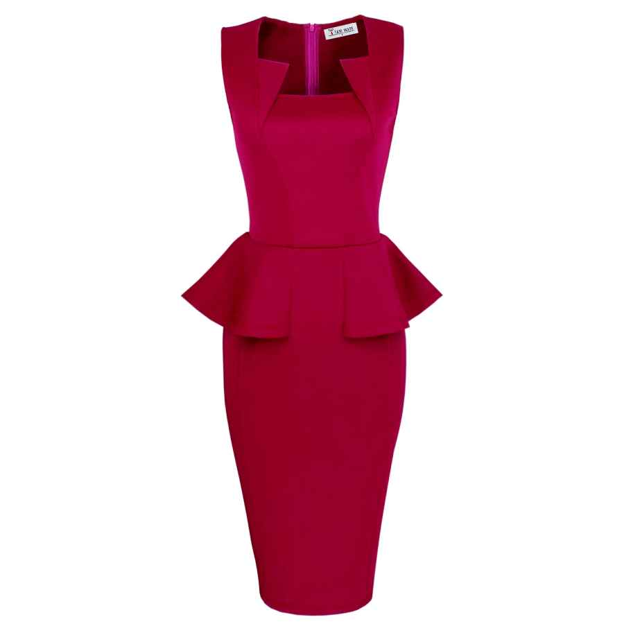 Party Dresses Tam Ware Womens Classy Neck Detail Sleeveless Zip-Up