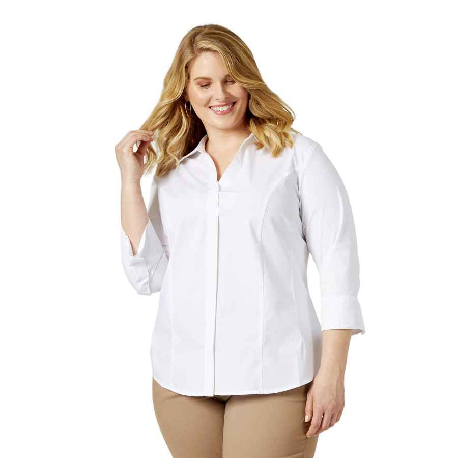 Blouses Riders By Lee Indigo Women's Plus Size Easy Care
