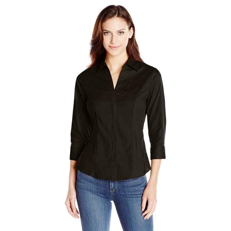 Blouses Riders By Lee Indigo Women's Easy Care �Â�¾ Sleeve