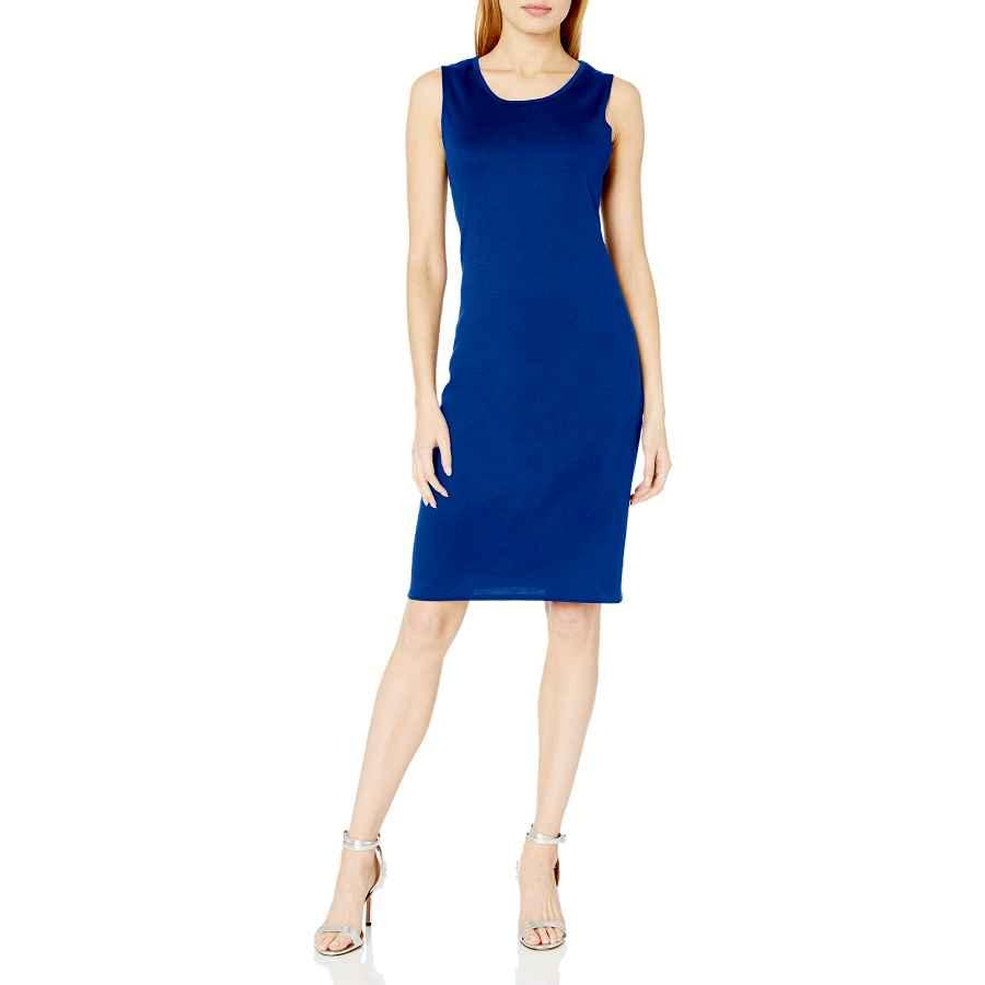 Party Dresses Star Vixen Women's Sleeveless Classic Slim Fit Midi