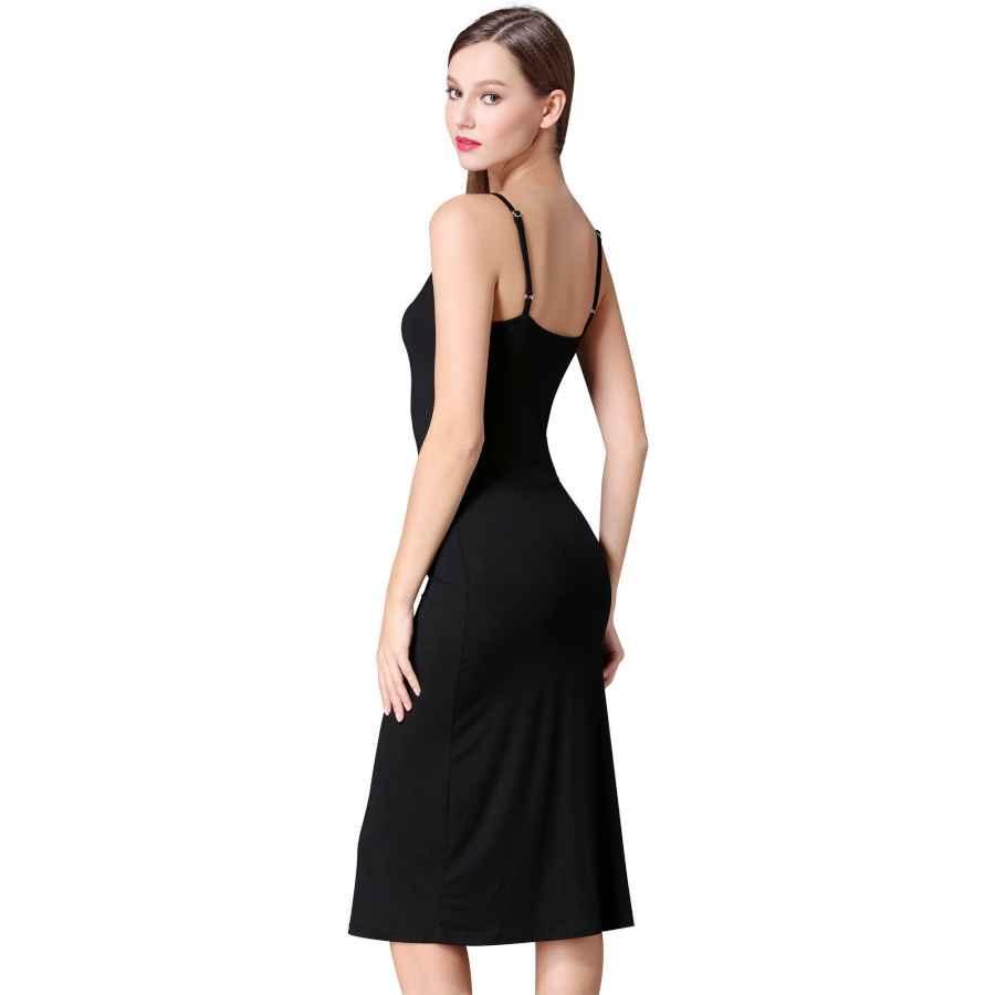 Womens Casual Dresses Msbasic Women's Adjustable Spaghetti Straps Long Cami Slip Dress