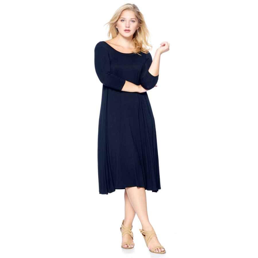Womens Casual Dresses Modern Kiwi Women's Plus Size Long Sleeve Flowy Maxi Dress (1x-4x)