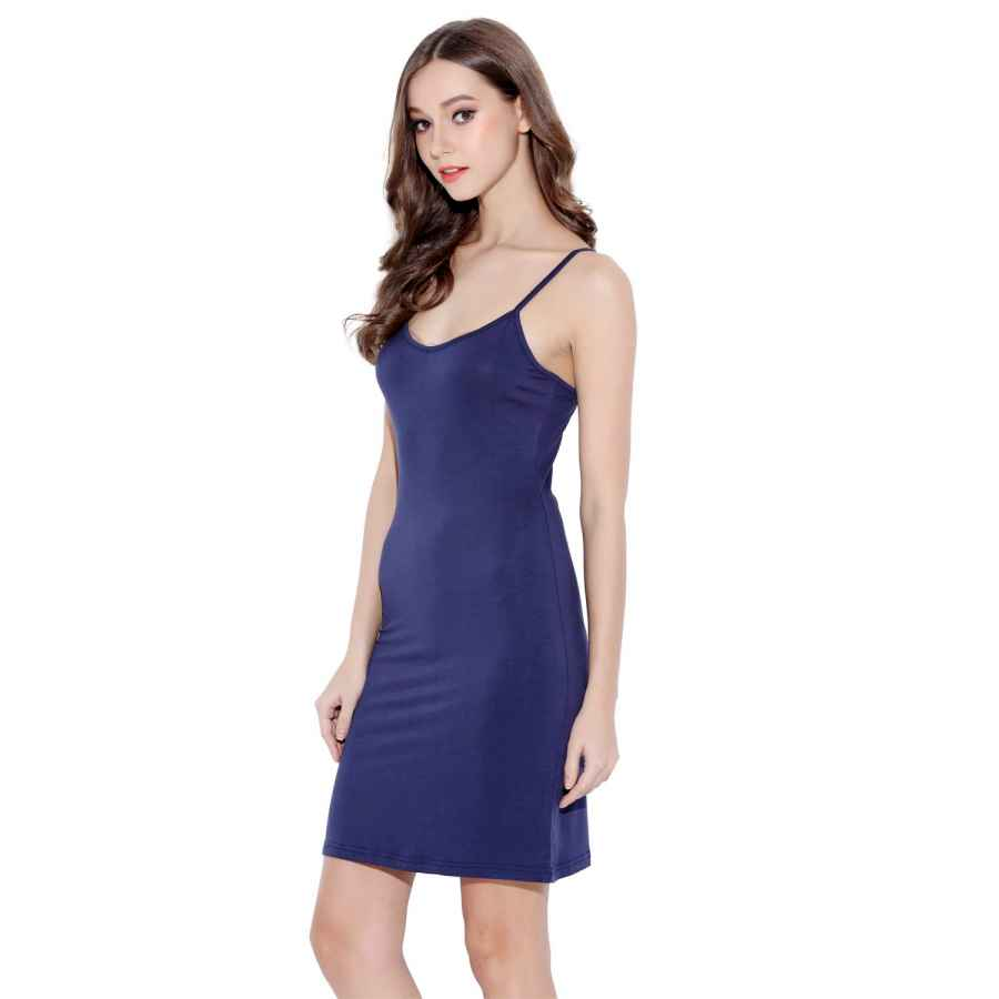 Womens Casual Dresses Women's Long Spaghetti Strap Cami Active Basic Camisole Slip Dress