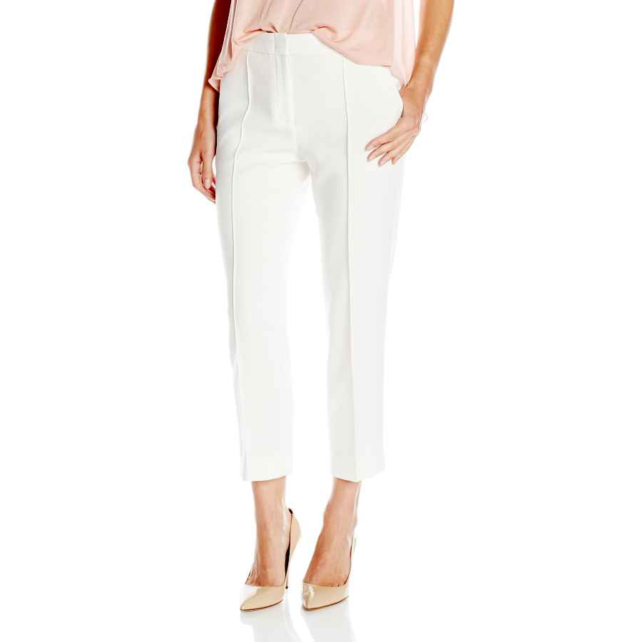 Pants wear to work bcbgmaxazria women's woven city pant-gerry-pintucked croppe
