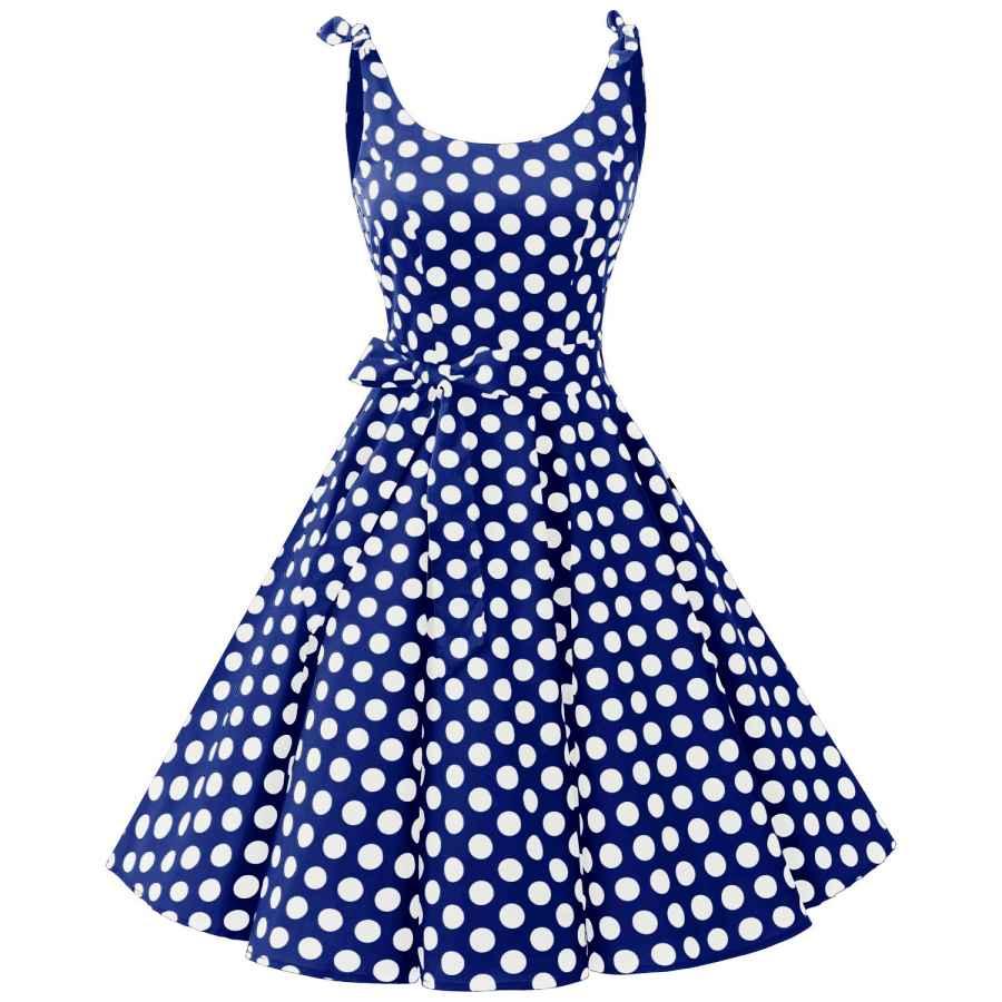 Womens Casual Dresses Bbonlinedress 1950'S Bowknot Vintage Retro Polka Dot Rockabilly Swing Dress