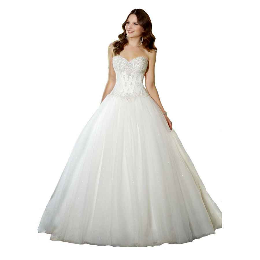 Wedding Dresses Yipeisha Sweetheart Beaded Corset Bodice Classic Tulle Wedding