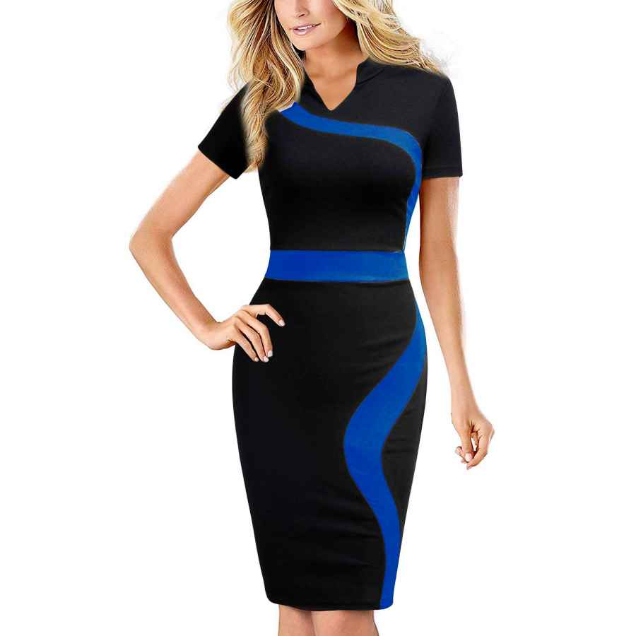 Party Dresses Rephyllis Women's Vintage One Piece Office Wear To