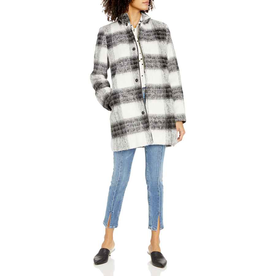 Jeno Neuman Ladies Italian Wool Cashmere Blend Reefer Coat