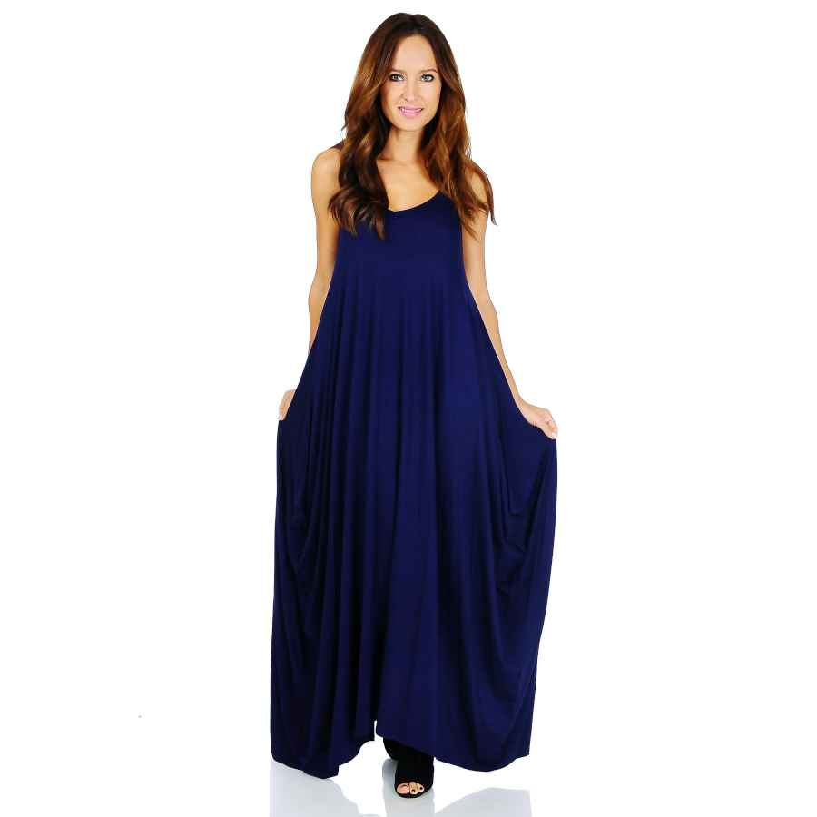 Womens Casual Dresses Simply Ravishing Rayon Span Maxi Boho Harem Various Style Dress (Size: Small - 5x)