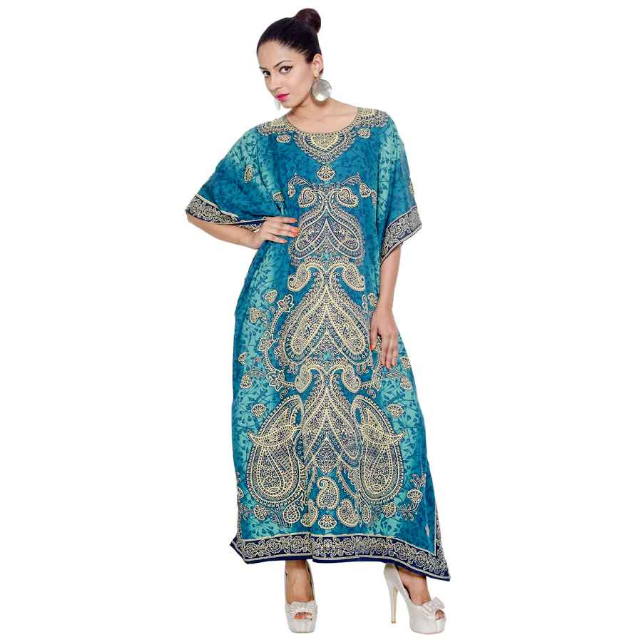 Womens Casual Dresses Goood Times Plus Size Kaftan Dress Tunic Long Maxi Kimono Caftan Gown Nightdress Beach Party Casual Dress