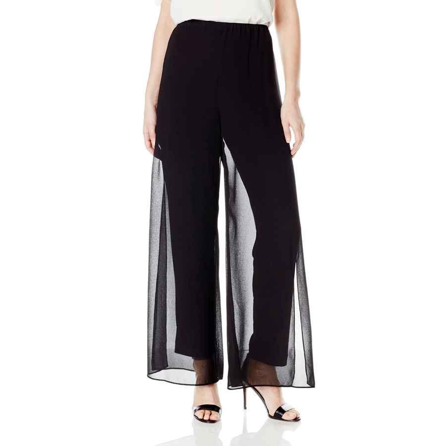 Womens Casual Dresses Alex Evenings Women's Chiffon Dress Pants