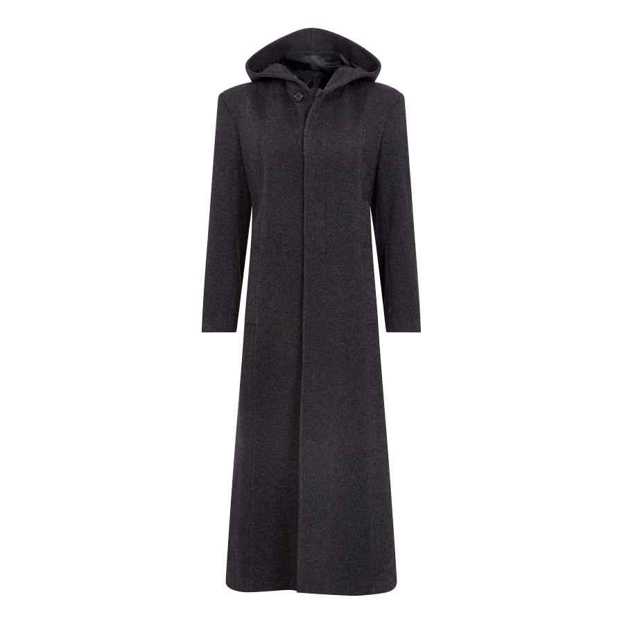 De La Creme - Women's Hooded Cashmere Wool Winter Long Winter Coat