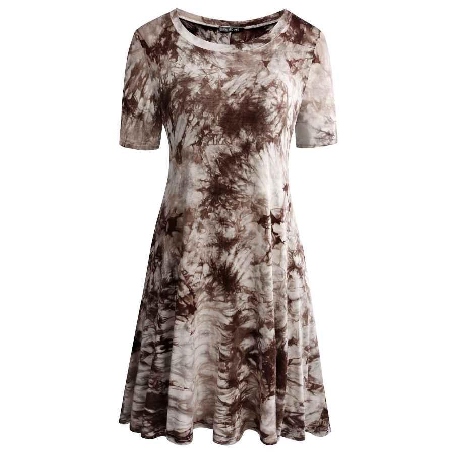 Womens Casual Dresses Women's Casual Pockets Plain Simple T-Shirt Tunic Loose Dress