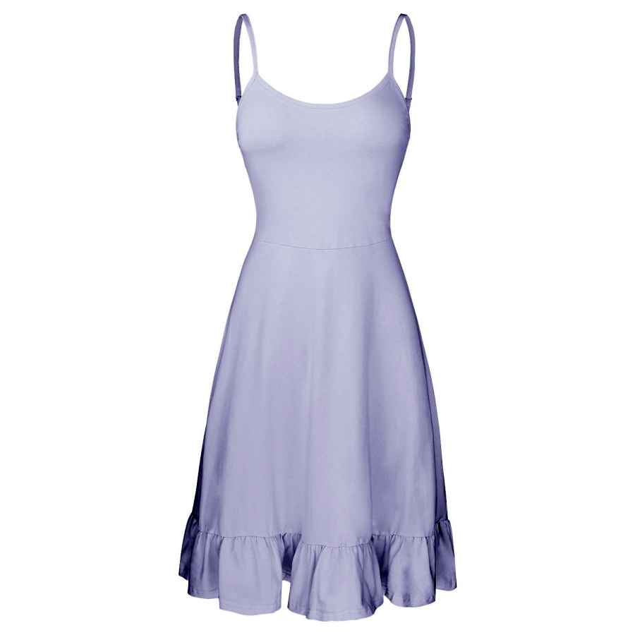 Womens Casual Dresses Ouges Women's Adjustable Spaghetti Strap Sleeveless Summer Beach Slip Dress