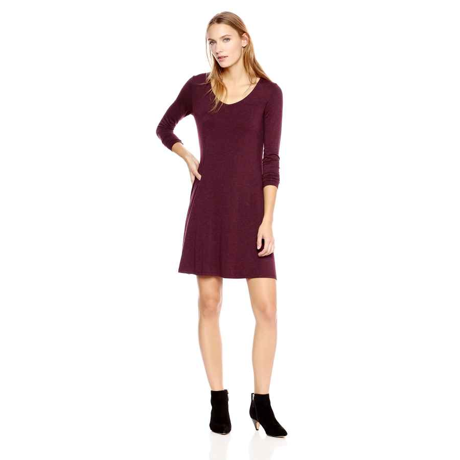 Womens Casual Dresses Amazon Brand - Daily Ritual Women's Jersey Long-Sleeve V-Neck Dress