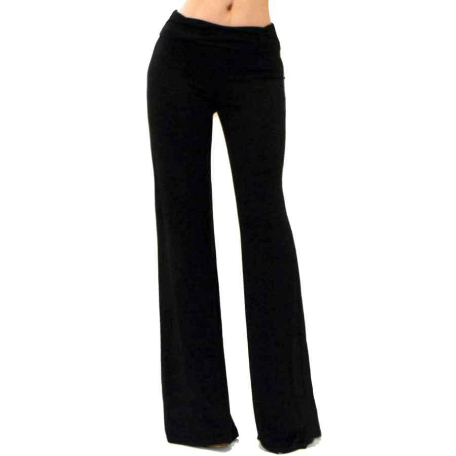 Pants Casual Vivicastle Women's Usa Fold Over High Waist Wide