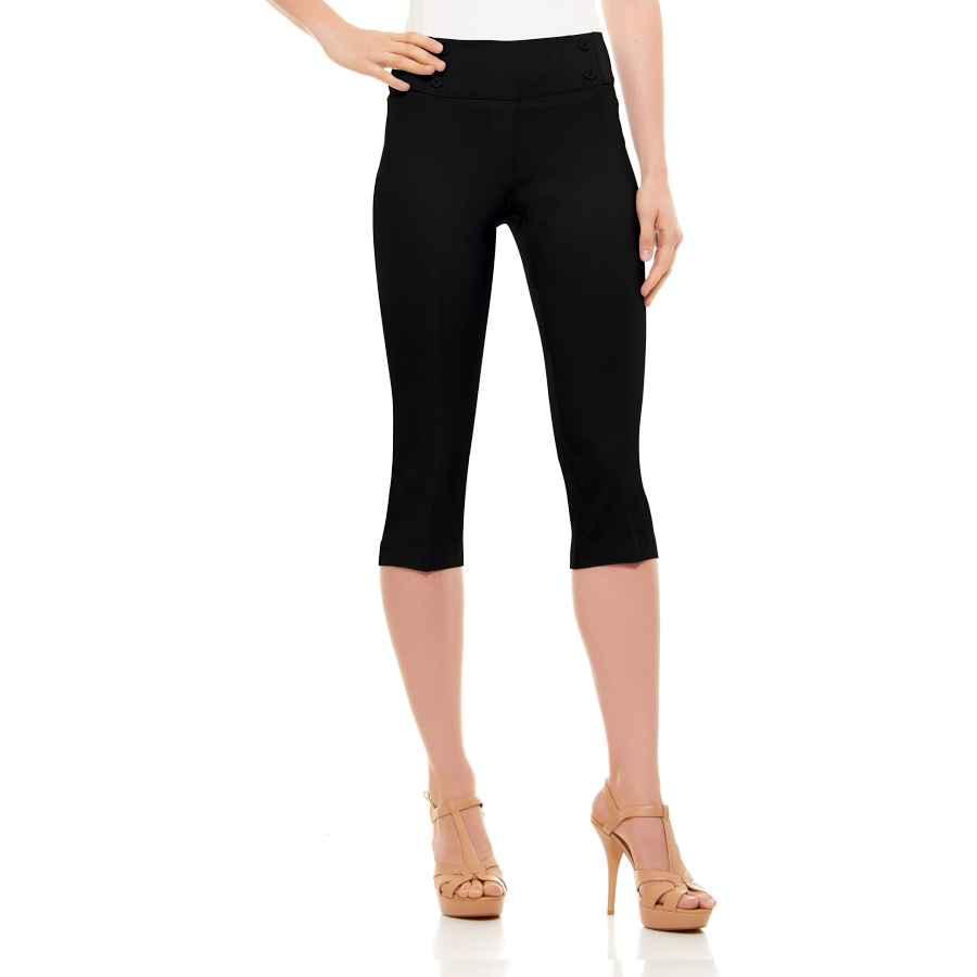 Pants Casual Womens Classic Fit Capri Pants - Pull On
