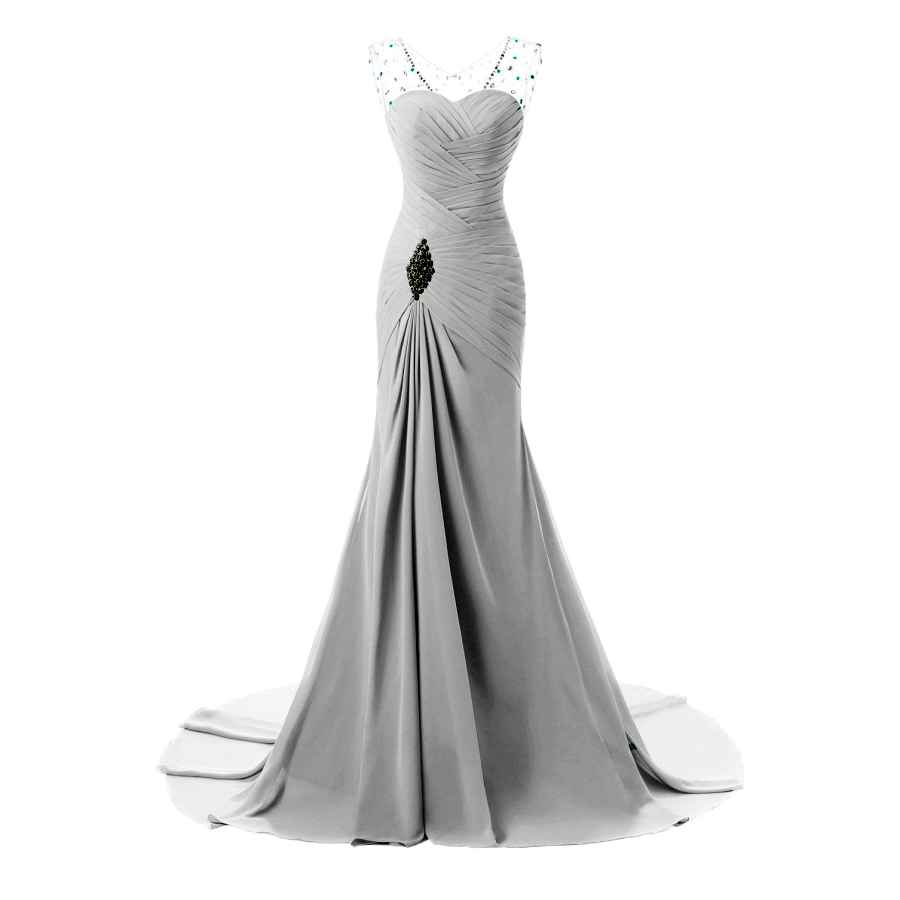 Wedding Dresses Zeeber Rhinestone Mermaid Evening Party Dress For Elegant