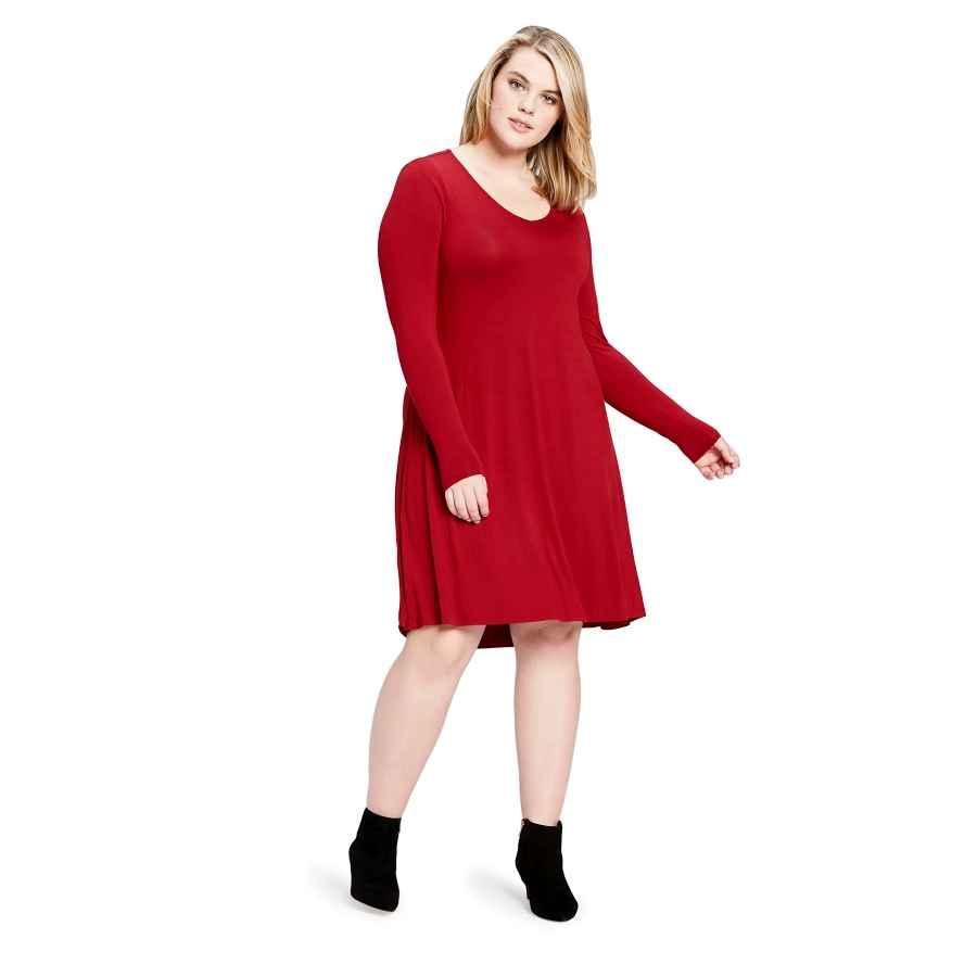 Womens Casual Dresses Amazon Brand - Daily Ritual Women's Plus Size Jersey Long-Sleeve V-Neck Dress