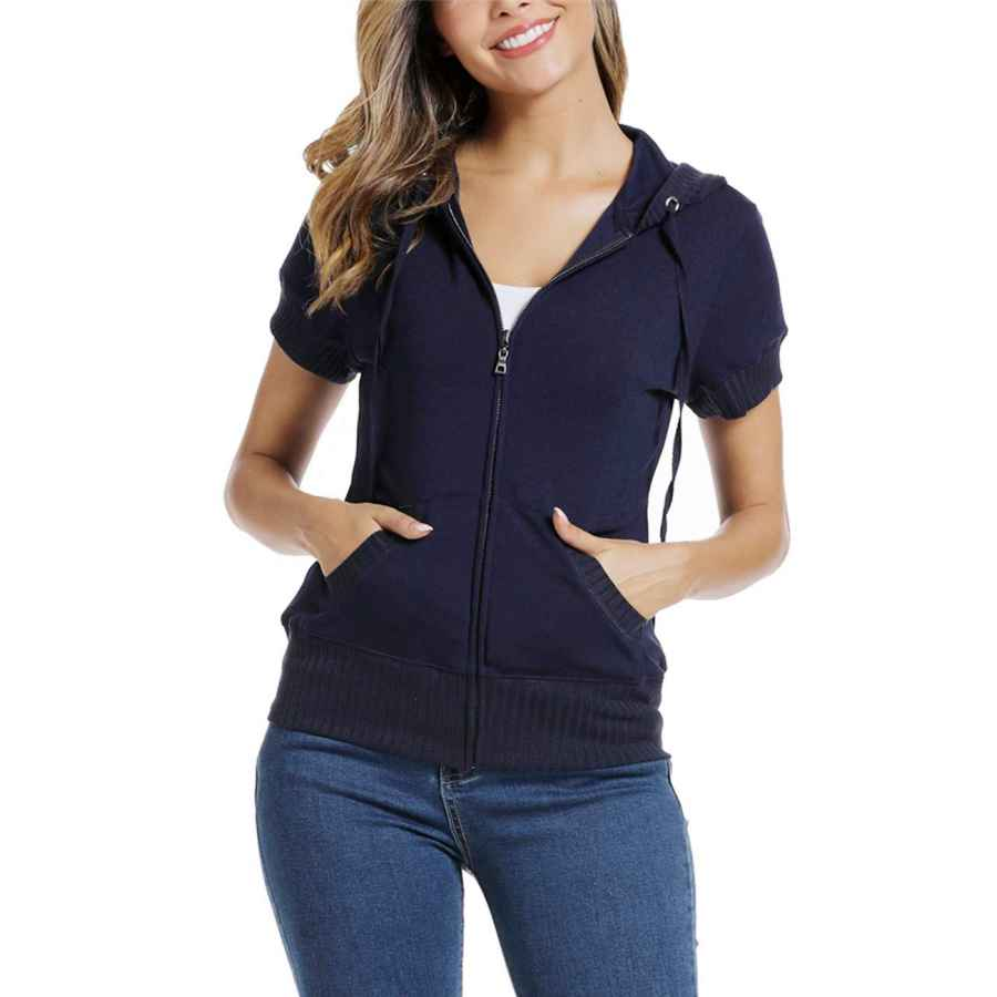 Cardigans Miss Moly Short Sleeve Jackets For Women Basic Hoodie