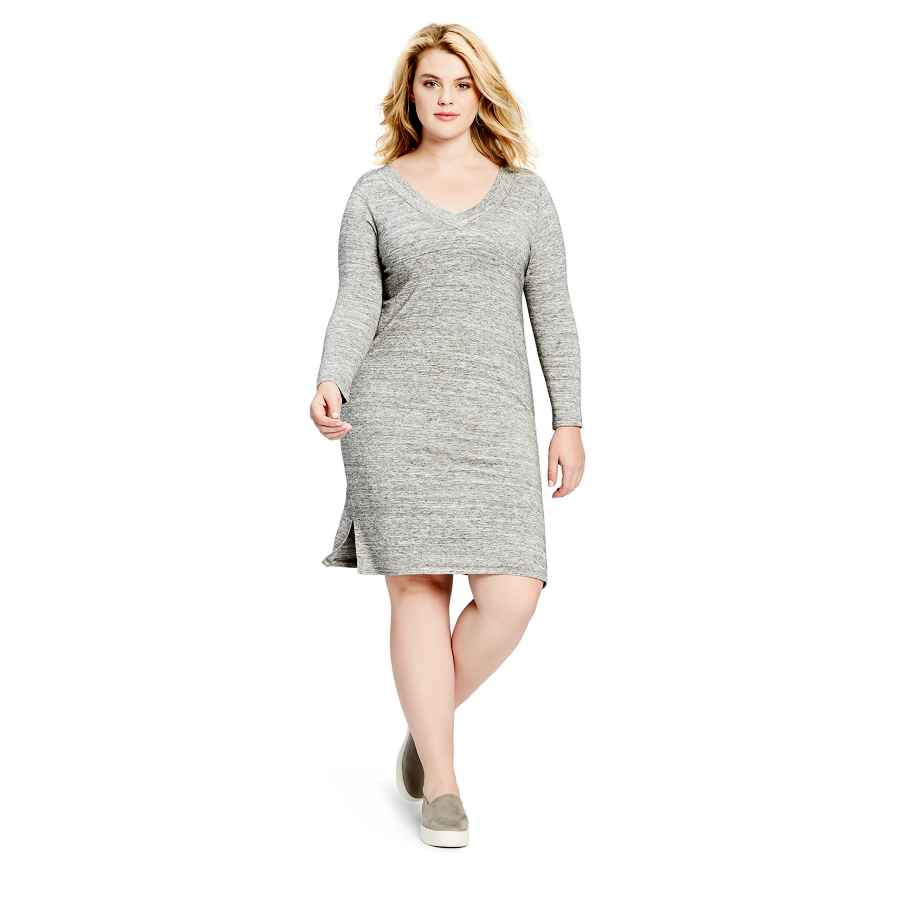 Womens Casual Dresses Amazon Brand - Daily Ritual Women's Plus Size Supersoft Terry Long-Sleeve V-Neck Dress