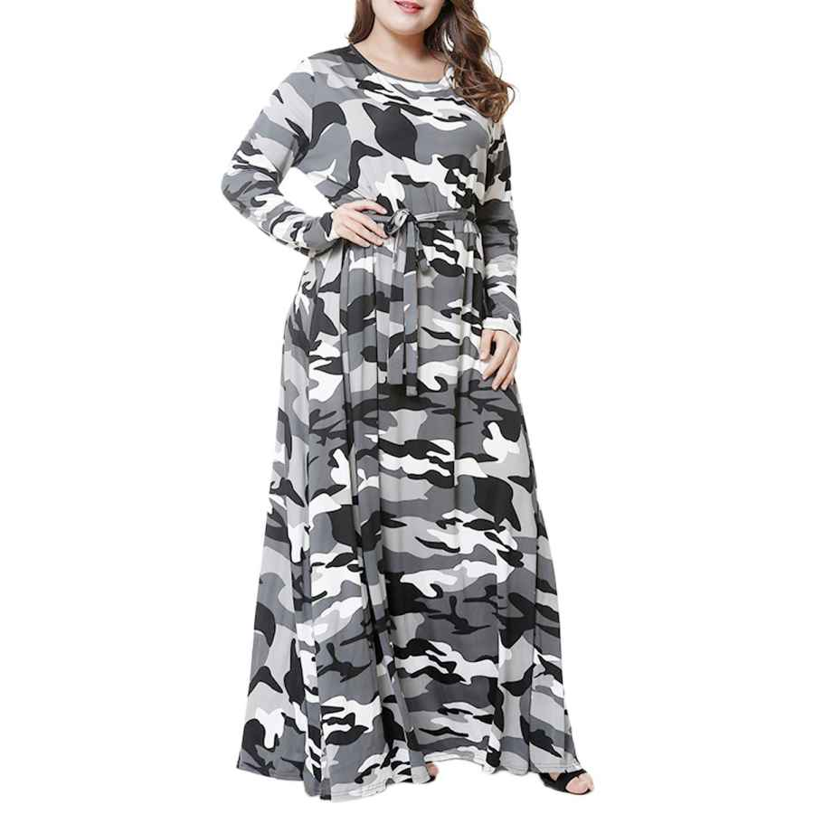 Womens Casual Dresses Fv Relay Women's Summer Casual Short Sleeve Camo Print Dresses Stretch Swing Dress For Work