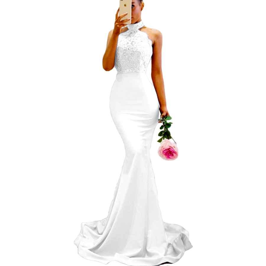 Wedding Dresses Sdress Women's Lace Appliques Illusion Long Mermaid Skirt