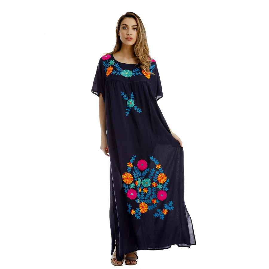 Womens Casual Dresses Riviera Sun Embroidered Maxi Dress With Double Side Slits