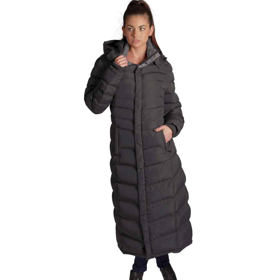 Elora Women's Winter Warm Full Length Fleece Lined Maxi Puffer Coat