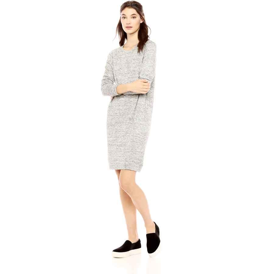 Womens Casual Dresses Amazon Brand - Daily Ritual Women's Supersoft Terry Long-Sleeve Raglan Sweatshirt Dress
