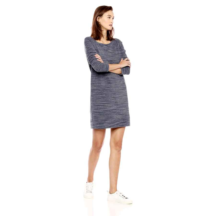 Womens Casual Dresses Amazon Brand - Daily Ritual Women's Terry Cotton And Modal Open Crewneck Sweatshirt Dress