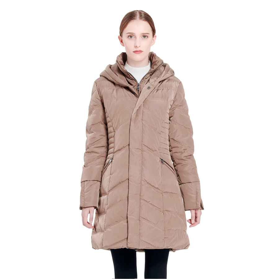 Orolay Women's Thickened Coat Puffer Down Jacket Black