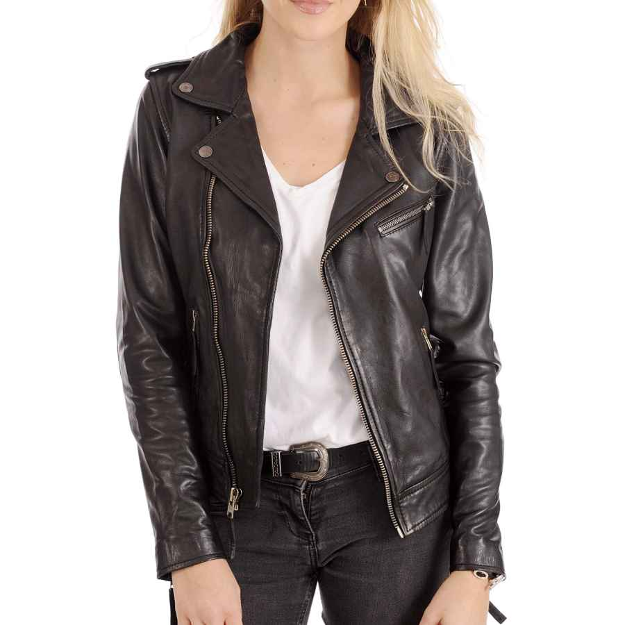 Kyzer Kraft Womens Leather Jacket Bomber Motorcycle Biker Real Lambskin Leather Jacket For Womens Collection-03