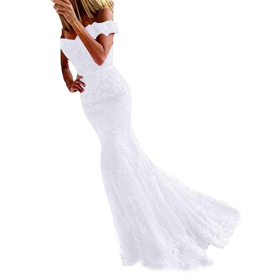 Wedding Dresses Sweetdress Womens Lace Mermaid Evening Prom Dresses Off