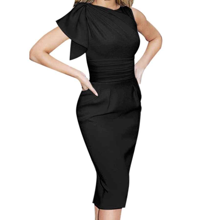 Party Dresses Vfshow Womens Celebrity Elegant Ruched Cocktail Party Bodycon