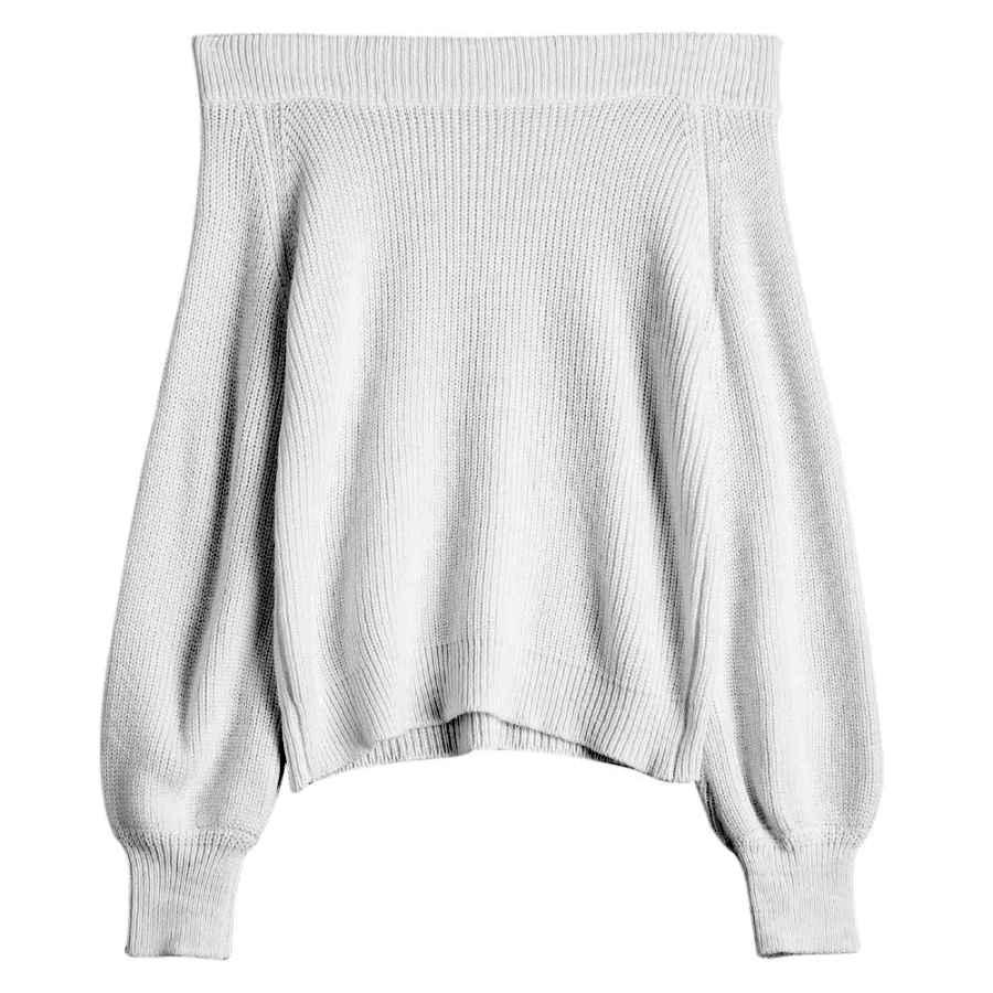 Pullower Zaful Women's Knit Sweater Lantern Sleeve Casual Batwing Sleeve