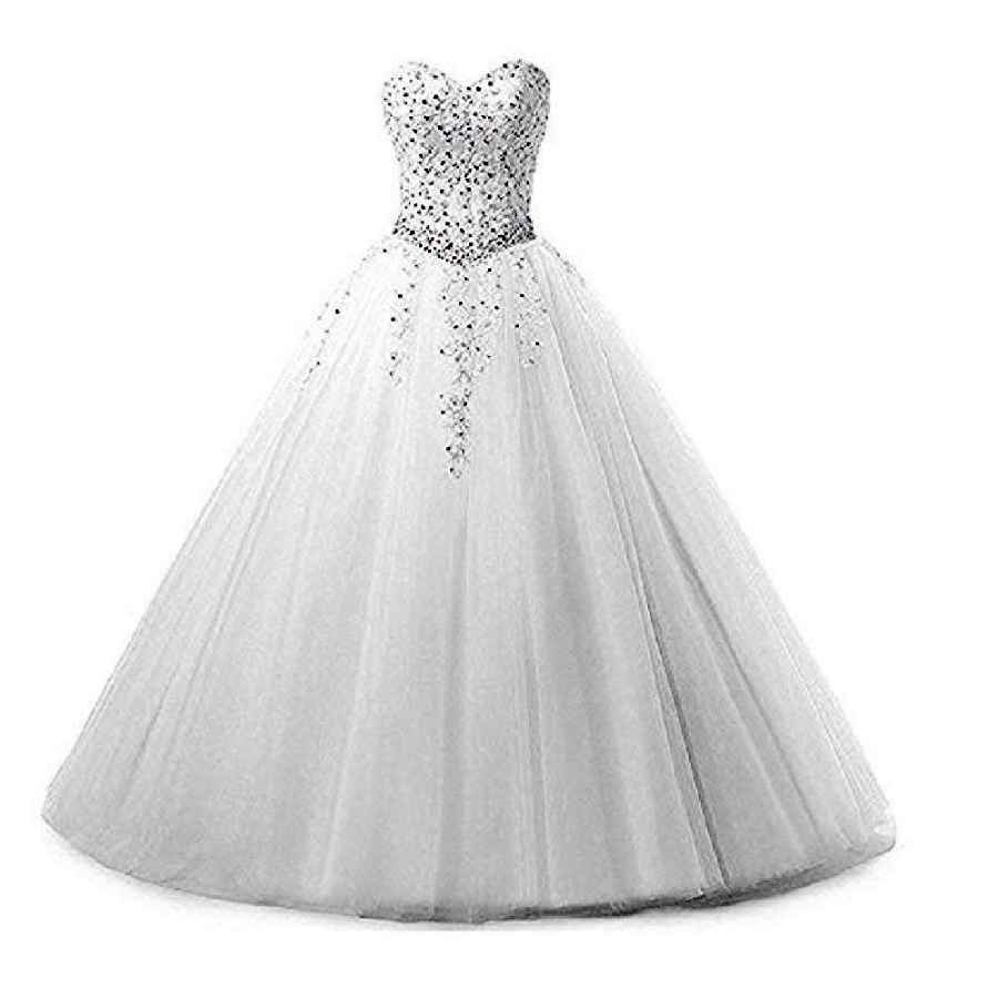 Wedding Dresses Women's Sweetheart Burgundy Prom Ball Gown Lace Long