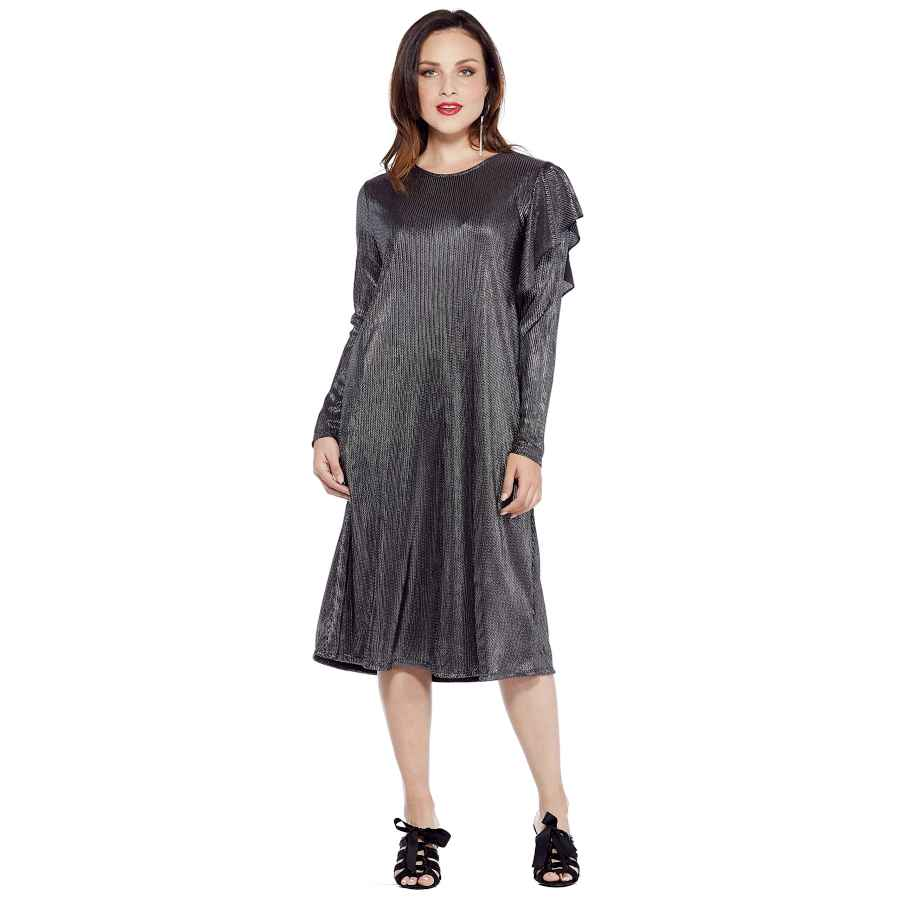 Party Dresses Wukogals Reis Modest Below Knee Occasion Long Sleeve