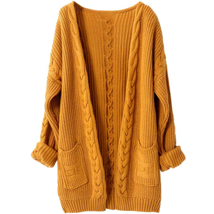 Cardigans Liny Xin Women's Cashmere Loose Casual Long Sleeve Open