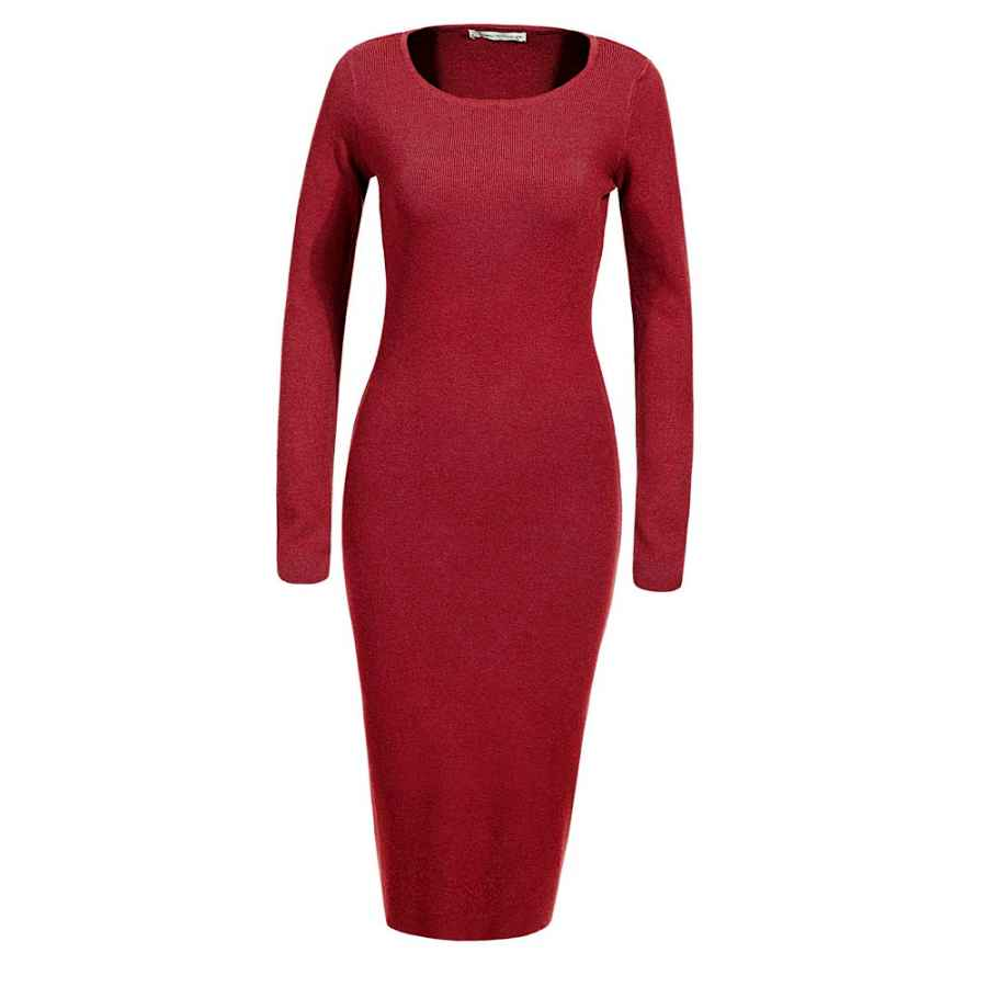 Womens Casual Dresses Glostory Womens Long Sleeve Slim Fit Bodycon Pullover Sweater Dresses 2616