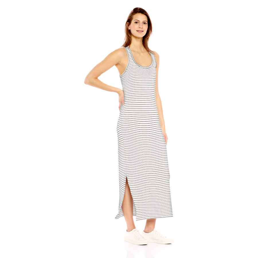 Womens Casual Dresses Amazon Brand - Daily Ritual Women's Supersoft Terry Racerback Maxi Dress