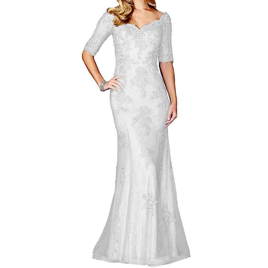 Wedding Dresses Tutu.Vivi Women's V Neck Lace Appliques Mermaid Mother