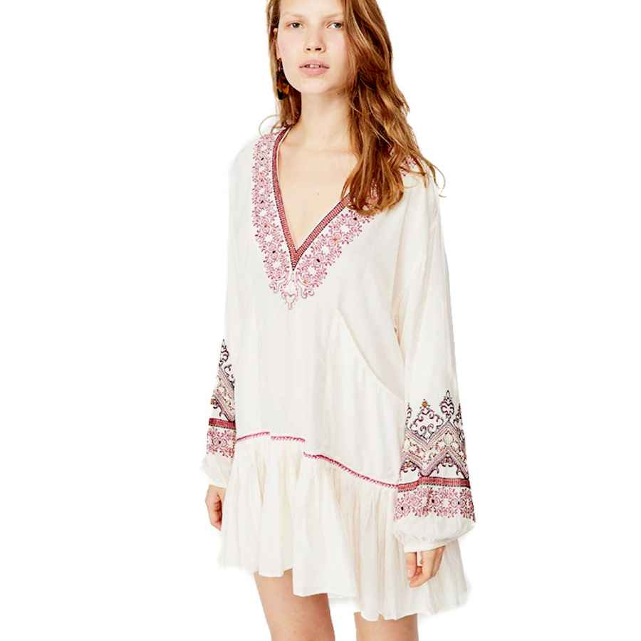 Womens Casual Dresses Free People Women's Wild One Embellished Mini Dress