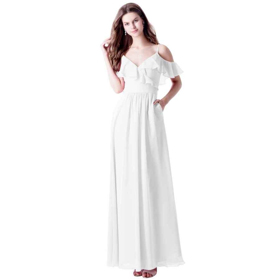 Wedding Dresses Wulidress Women's Off The Shoulder Ruffles A Line